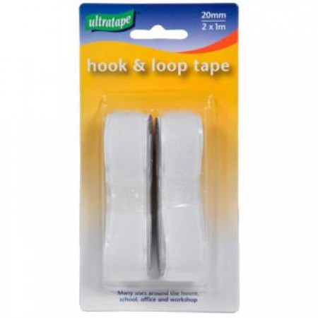 2pc Hook & Loop Tape 20mm x 1m