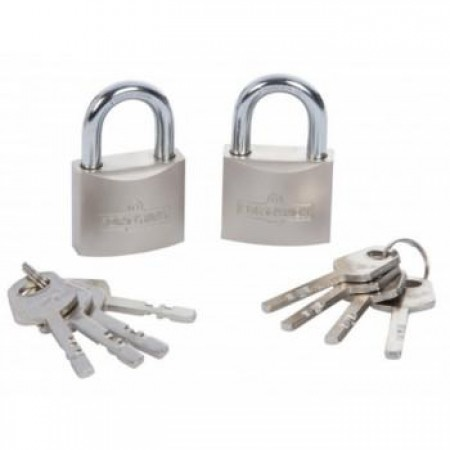 Padlock Keyed-alike Satin Finish 2pc - 40mm