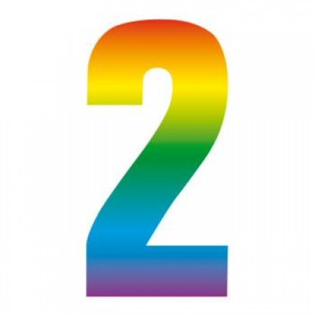 Wheelie Bin Number Sticker Rainbow