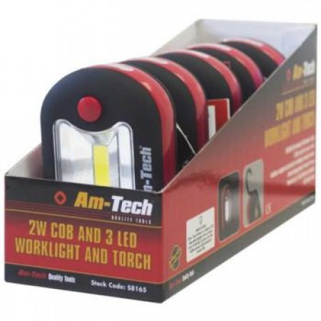 2W COB & 3LED Worklight Torch