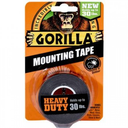 Gorilla Heavy Duty Mounting Tape Black