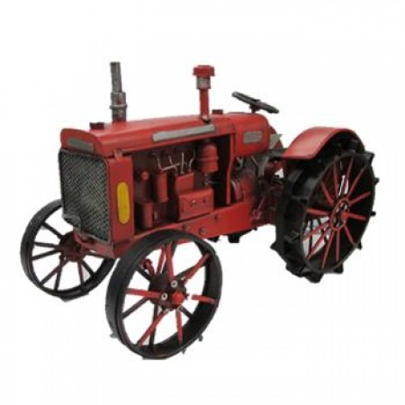 Ornament Metal Red Tractor