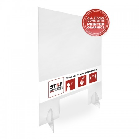 ClearView Sneeze shield with feet and access hatch